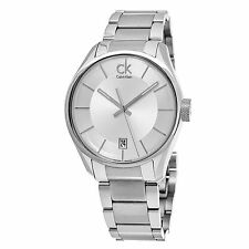 Calvin Klein Men's Masculine Silver Dial Stainless Steel Quartz Watch K2H21126