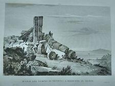 1845 Zuccagni-Orlandini Avanzi del Tempio di Nettuno a Selinunte in Sicilia