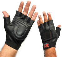 Leather Gym Gloves Weight Lifting Fitness Workout Body Building Training Gloves
