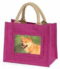 Shiba Inu Little Girls Small Pink Shopping Bag Christmas Gift, AD-A3BMP