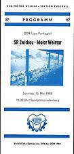 DDR-Liga 87/88 BSG Motor Weimar-Sajonia anillo Zwickau, 15.05.1988