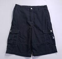 """Levis Shorts Men's Size 18 Cargo Denim Black Jeans  W 29/30"""" See pics"""