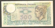 500 lire MERCURIO serie speciale sostitutiva W 06 RARA 1974 Replacement Italy