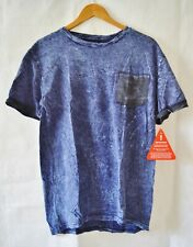 NEW with TAGS! Mens' Goodsouls 100% cotton Denim effect t-shirt UK size XL