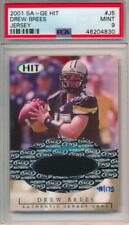 2001 SA-GE Hit Rookie Jersey /175 Drew Brees #J5 PSA 9 POP 3 Super Rare Card