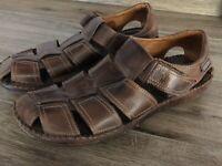 Pikolinos Nordstrom Men's Fisherman Sandals Brown Leather Size 44 US 10