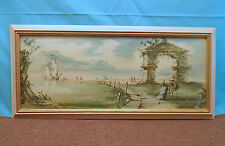 """""""Venezia-Lido"""" Water Color Print by Roderic Montagu Signed & Dated 1962"""