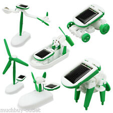 New 6 in 1 Solar Power Toy Kits Build Educational DIY 6 Different Robotic Toys