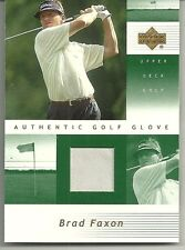 2002 Upper Deck Golf - BRAD FAXON - Match Worn Golf Glove #BF-G - PGA GOLF