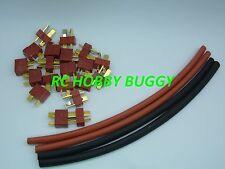 Connecteur,prises Dean T Plug OR avec GRIP + Gaine thermo,New modèle 10 Paires.