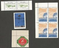 Italy 1910-1947 Airmail Cinderella labels/stamps MNH (8)
