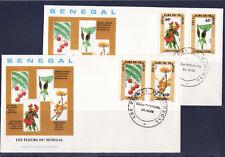 SENEGAL 1er jour    fleurs  du Sénégal    1988