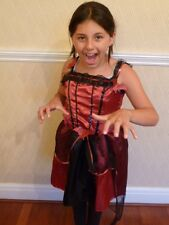 Girls Age 9-10 Gorgeous Lacey Halloween/ Fancy Dress Costume (HW53)