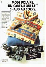 PUBLICITE ADVERTISING 126  1993  Pulls polaires  Nouvelles Galeries Lafayette