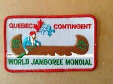 1983 World Scout Jamboree Quebec Canada Contingent Patch
