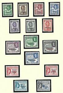 SOMALILAND  1951  S G 125 - 135  SET OF 11    MH  CAT £55