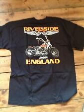HARLEY -DAVIDSON  RIVERSIDE MOTORCYCLES OF LONDON T SHIRT XL ONLY 44-48 CHEST