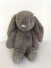 Jellycat Grey Plush Rabbit Stuffed Toy Soft Bunny Cuddly Medium Toy O15