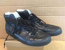 Armani Black Leather High Top Trainers Uk 9.5 Eu 44