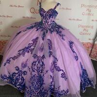 Lavender Luxury Sequins Beaded Quinceanera Dresses Sweetheart Ruffles sweet 16