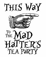 Alice in Wonderland Mad Hatter - Typography quote Decorative Vinyl Wall Sticker