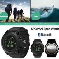 Waterproof Mens Smart Watches Bluetooth Alarm Camera LED Digital Shock Sports