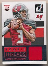 JAMEIS WINSTON 2015 Donruss ROOKIE THREADS JERSEY RELIC RC BUCCANEERS