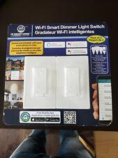 2-Pack Wi-Fi Smart Dimmer Light Switch Work w/ Alexa & Google Assistant Free APP