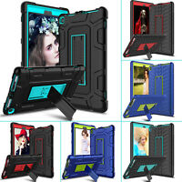 For Amazon Kindle Fire 7 HD 8 2017 7th Gen Heavy Rubber Tablet Stand Case Cover