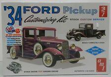 1934 34 FORD PICKUP TRUCK STOCK STREET RAT HOT ROD TOW FS SEALED AMT MODEL KIT