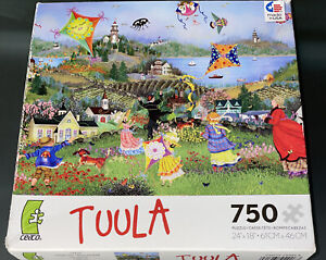 Ceaco Tuula Burger Windy Day Kites 750 Piece Jigsaw Puzzle Kite Art Colorful