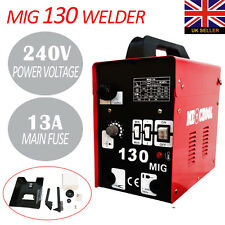 MIG 130Amp Gasless Welder Mighty Mig Welding Machine Kit Flux No Gas Profession
