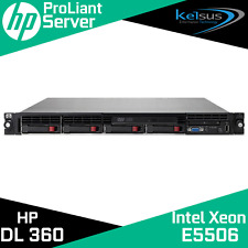 HP DL360 G6 2x Intel Xeon E5506 12GB P410i/256 460W PSU 4xSFF 1U Rack Server
