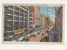 Broadway Looking South Los Angeles 1939 Postcard USA 566a