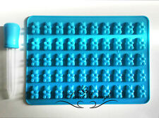 50 Cavidad Mini Silicona Gummy Bear dulces moldes Chocolate detallada Gummy Bear