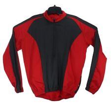 Illumi Nite Reflective Wear Mens L Red Black 1/2 Zip Cycling Jersey Jacket