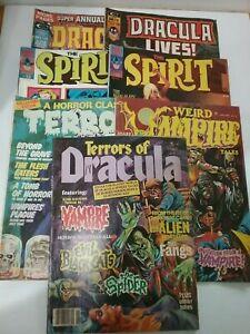 Bronze Age Horror Pulp Comic Zine Lot Vintage The Spirit Dracula Tales of Terror