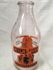 Dari-Maid Half Gallon Milk Bottle Batavia Dairy Illinois Dutch Girl Windmill