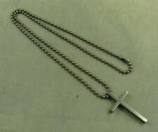 PureTitanium 3mm ball chain(70cm) anti-allergy Necklace with cross key pendant