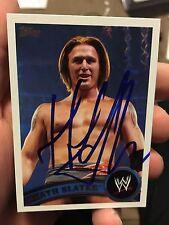 Heath Slater Signed WWE 2011 Topps Card Social Outcasts Nexus