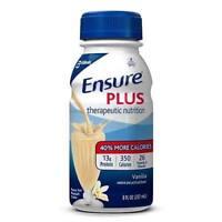 Ensure Plus Vanilla Supplement, 8 Ounce Bottle, Abbott 58303 - Case of 24