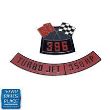 Chevrolet 396 Flags 350 Horsepower Air Cleaner Diecast Emblem Set