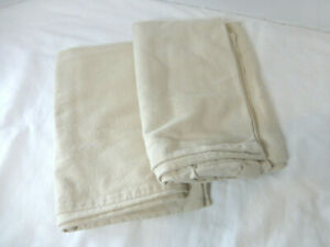 The Company Store Pillowcases Lot of 2 Tan Standard Flannel Portugal