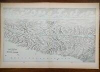 "Vintage 1900 HOLY LAND Atlas Map 22""x14"" ~ Old Antique BETHLEHEM JERUSALEM SIDON"