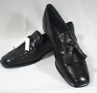 Stuart Weitzman Guything Black Tassel Loafers Shoes 6.5 Medium New Spain Women