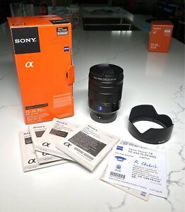 Like new Sony Zeiss Vario-Tessar FE 24-70mm f/4 F4 ZA HOYA PRO1