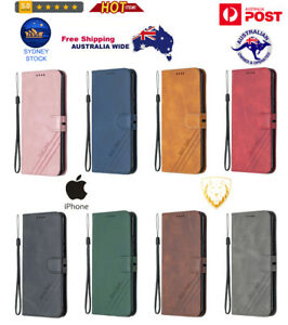 Horizontal Flip PU Leather Case with Holder & Card Slot & Lanyard For iPhone $