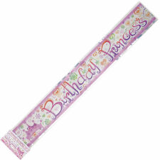 BIRTHDAY PRINCESS  party banner poster FOIL 3.6M FREE POST