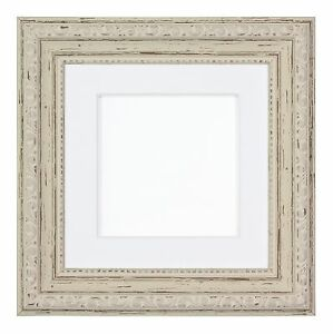 Instagram Square Ornate Shabby Chic Picture frame photo frame With Mount White D