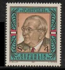 AUSTRIA SG2147 1987 OSKAR HELMAN (POLITICIAN)  MNH